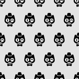 Seamless pattern with funny gentlemen kittens Stock Photos