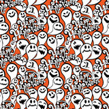 Seamless pattern with funny ghost. Happy Halloween background. Royalty Free Stock Photos