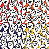 Seamless pattern with funny ghost. Happy Halloween background. Stock Photography