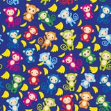 Seamless pattern with funny green blue pink orange Royalty Free Stock Photo