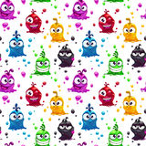 Seamless pattern with funny jelly characters Royalty Free Stock Photos