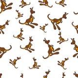 Seamless pattern - Funny kangaroo. Royalty Free Stock Images