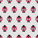 Seamless pattern with funny kittens Royalty Free Stock Photos