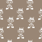 Seamless pattern  of funny peoples, sketch for your design Royalty Free Stock Images