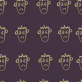Seamless pattern  of funny peoples, sketch for your design Stock Image