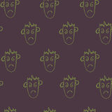Seamless pattern  of funny peoples, sketch for your design Royalty Free Stock Photo