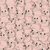 Seamless pattern with funny pigs Royalty Free Stock Photos