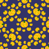 Seamless pattern of funny pumpkins, halloween. Background royalty free illustration