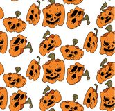 Pattern of pumpkins for Halloween, the day of all the saints. Seamless Pattern of Funny Pumpkins for Halloween Pendant stock illustration