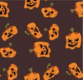 Pattern of pumpkins for Halloween, the day of all the saints. Seamless Pattern of Funny Pumpkins for Halloween Pendant royalty free illustration