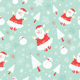 Seamless pattern funny santa claus Royalty Free Stock Image