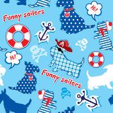 Seamless pattern with funny scottish terrier dogs  Stock Image