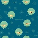Seamless pattern with funny sheep and hearts Royalty Free Stock Images