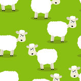 Seamless pattern of funny sheep. Seamless vector illustration of funny sheep symbol of 2015 Stock Image