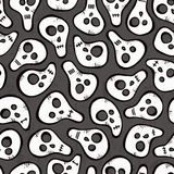 Seamless pattern with funny skulls Stock Image