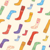 Seamless pattern with funny socks Stock Image