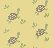 Seamless pattern with funny turtles Stock Image