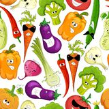 Seamless pattern. funny vegetable Stock Photos