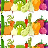 Seamless pattern. funny vegetable Royalty Free Stock Image