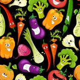 Seamless pattern. funny vegetable Stock Photo