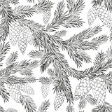Seamless pattern fur-tree Stock Image
