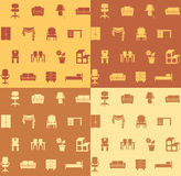 Seamless pattern: furniture. Vector backgrounds Royalty Free Stock Image