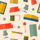 Seamless pattern of furniture Royalty Free Stock Image