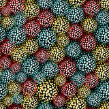 Seamless pattern with  furry balls. Royalty Free Stock Images
