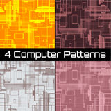 Seamless pattern with gadgets Stock Photos