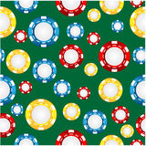 Seamless pattern of the game of casino chips Royalty Free Stock Photos