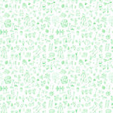 Seamless pattern with garden elements Stock Image