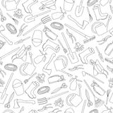 Seamless pattern of garden tools Stock Images