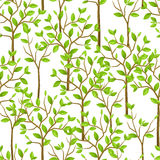 Seamless pattern with garden tress. Background made without clipping mask. Easy to use for backdrop, textile, wrapping Stock Photos