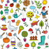 Seamless pattern of gardening objects Stock Image