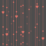 Seamless pattern garland of beads and hearts. Vector seamless pattern garland of beads and hearts Stock Images