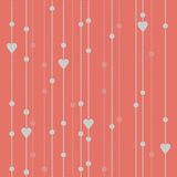 Seamless pattern garland of beads and hearts Royalty Free Stock Photography