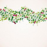 Seamless pattern garland with cherry Stock Photos