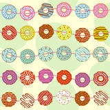 Seamless pattern with garland of donuts. Vector illustration, eps Royalty Free Stock Photography