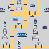 Seamless pattern gas industry Royalty Free Stock Photography