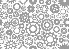 Seamless pattern gear Stock Images