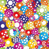 Seamless pattern gear Stock Image