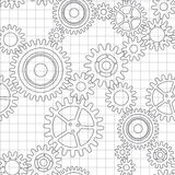 Seamless pattern of gear wheels Royalty Free Stock Photos