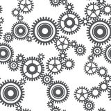 Seamless pattern of gear wheels Stock Images