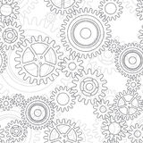 Seamless pattern of gear wheels Stock Photography