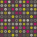 Seamless pattern with gear wheels Royalty Free Stock Photography