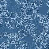 Seamless pattern of gear wheels Royalty Free Stock Images