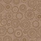 Seamless pattern with gears Stock Photos