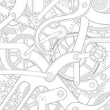 Seamless pattern of gears Stock Image