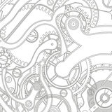 Seamless pattern of gears Royalty Free Stock Photography