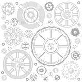 Seamless pattern of gears Stock Photos
